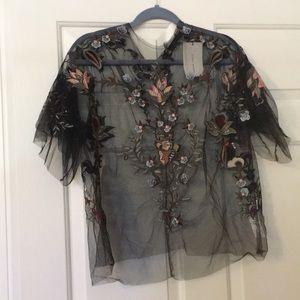 Floral mesh Zara shirt size medium